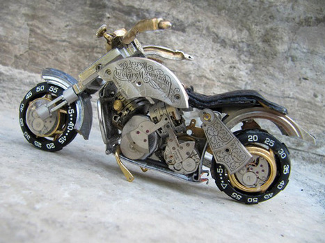 Miniature Motorcycles Made From Vintage Watch Parts | Heron | Scoop.it