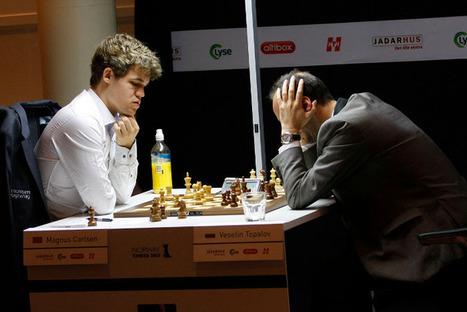 Échecs en Norvège : Carlsen 1/2 Anand - Chess & Strategy | Crédit Agricole | Scoop.it