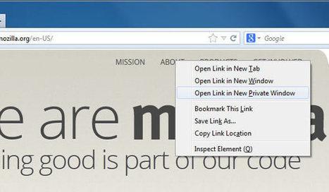 Firefox 20 Beta pour PC et Android : une navigation privée d'un nouveau genre | Veille web-technologique | Scoop.it