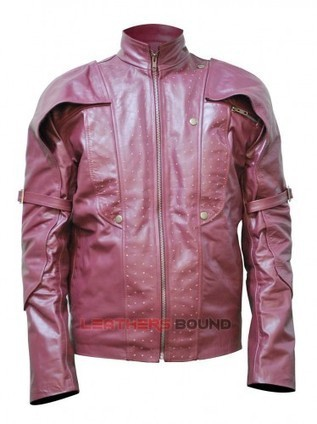 Chris Pratt Stat Lord Men's Red Genuine Leather Jacket | leathersbound | Scoop.it