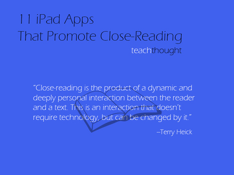 11 iPad Apps That Promote Close-Reading | CCSS News Curated by Core2Class | Scoop.it