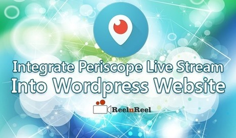 How to Integrate Periscope Live Stream to Wordpress Website | Internet Marketing | Scoop.it