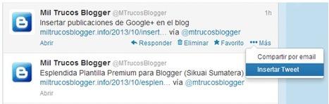 Insertar Tweets de Twitter en Blogger | e-learning y moodle | Scoop.it