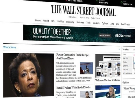 The Wall Street Journal new design | Comunicación y Periodismo en la Red | Scoop.it