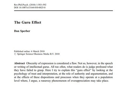 Have You Fallen Victim to the Guru Effect? | Big Think | Social Psychology, Environnment, Design | Scoop.it