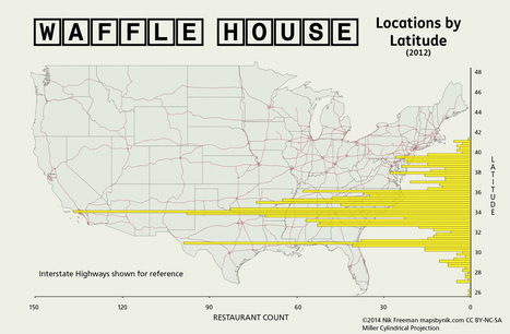 mapsbynik: Waffle House by Latitude After the seriousness... | HumanNature | Scoop.it