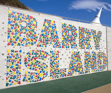 Barry Island typographic climbing wall by Gordon Young | Rock Climbing & Mountaineering | Scoop.it