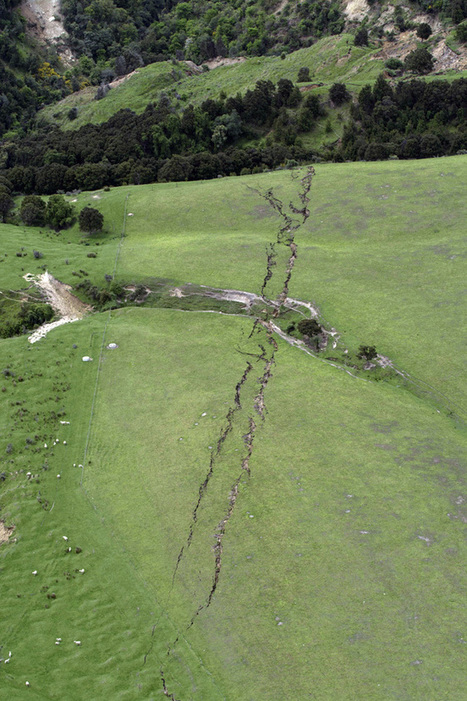 Day the earth cracked: Symmetrical fault lines on a rolling farmland show impact of deadly earthquake - National - NZ Herald News | Lorraine's Landscapes and landforms | Scoop.it