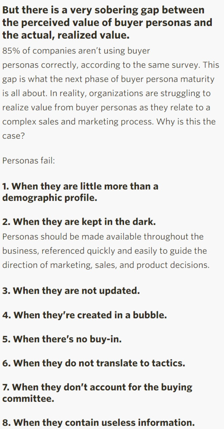 Why Personas Fail | B2B Marketing Insider | The Marketing Technology Alert | Scoop.it