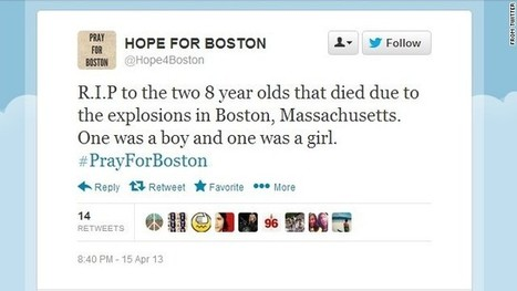 5 viral stories about Boston attacks that aren't true | The Boston Marathon Bombing: Media Full of Mistakes | Scoop.it
