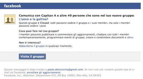 Quei maledetti gruppi di Facebook - Zeus News | Scoop Social Network | Scoop.it