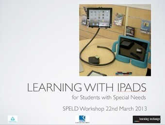 Learning and Teaching with iPads: Special needs students learning with the iPad | Autism | Scoop.it
