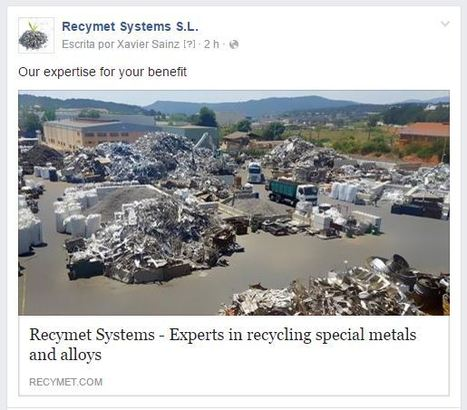 Company Of The Day - RECYMET SYSTEMS | ECOLOGICAMENTE DISPUESTOS | Scoop.it