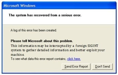 """NSA Exploits Windows Error Reports to Gain """"Passive Access"""" to ... 