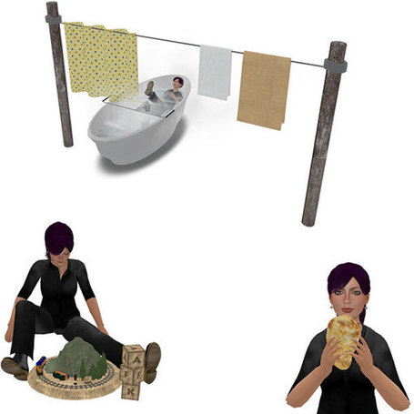 Fun Wearable Bathtub, Toy Train Set, and Naan Bread - Fun Freebie Stuff - Virtual Vagabond | Second LIfe Good Stuff | Scoop.it