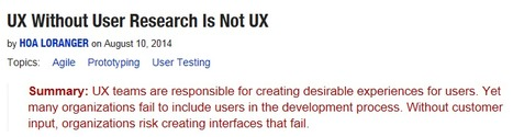 UX Without Users Is Not UX | Usability | Scoop.it