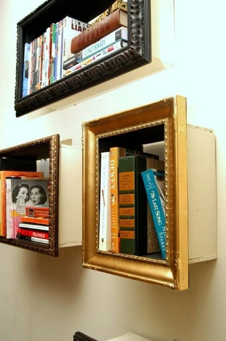 DIY picture frame shelves - Decoration Art Loft | Book Shelves | Scoop.it
