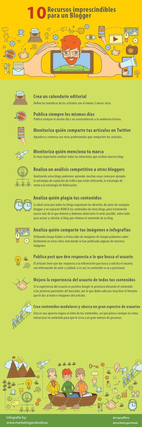 10 recursos imprescindibles para un Blogger #infografia #infographic #socialmedia | El rincón de mferna | Scoop.it