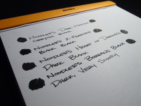 A quick comparison of Noodler's Black Inks | Writing instruments | Scoop.it