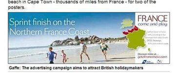 Whoops: French tourism campaign peddles a South African beach | Tourism Social Media | Scoop.it