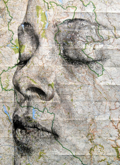 Human Portraits Hidden in the Topography of Maps | Photoshopography | Scoop.it
