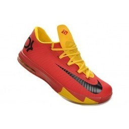 Nike KD VI 6 Sport Red Yellow Shoes | Cheap KD Shoes | Scoop.it