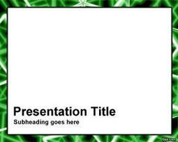 Green Rods Frame PowerPoint Template | Free  PowerPoint Templates | Scoop.it