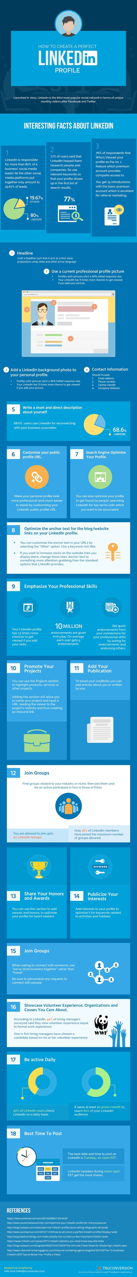 Perfect LinkedIn Profile Infographic | e-commerce & social media | Scoop.it