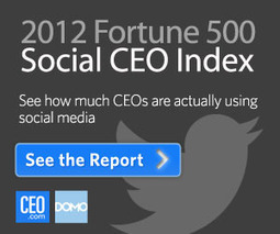 Infographic: How Social Are FORTUNE 500™ CEOs? | CEO.com | Social Business Trends | Scoop.it