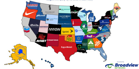 Here Are The Biggest Companies By Revenue In Each State   Sustain Our Earth   Scoop.it