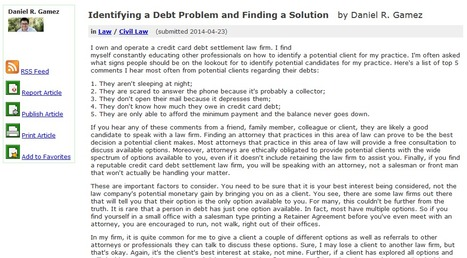 Identifying a Debt Problem and Finding a Solution | Business | Scoop.it