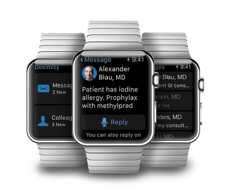 First Apple Watch health IT apps bring important messages to the wrist | EHR and Health IT Consulting | Scoop.it