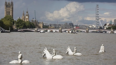 4 ghostly horsemen are striding through the Thames to warn of climate change | Archivance - Miscellanées | Scoop.it