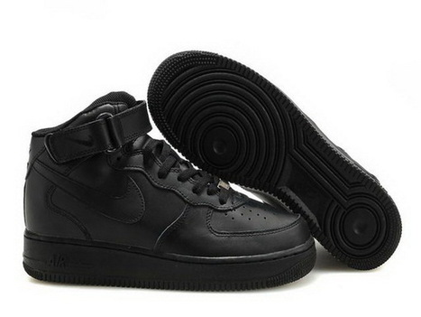 Women Nike Air Force One High Top Shoes 09 All Black | Online Shopping | Scoop.it