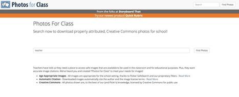 Tecducación | [Repost] ¡Encuentra todo tipo de imágenes para tus presentaciones y entregas (gratis y modificables) con Photos for Class! | Educacion, ecologia y TIC | Scoop.it
