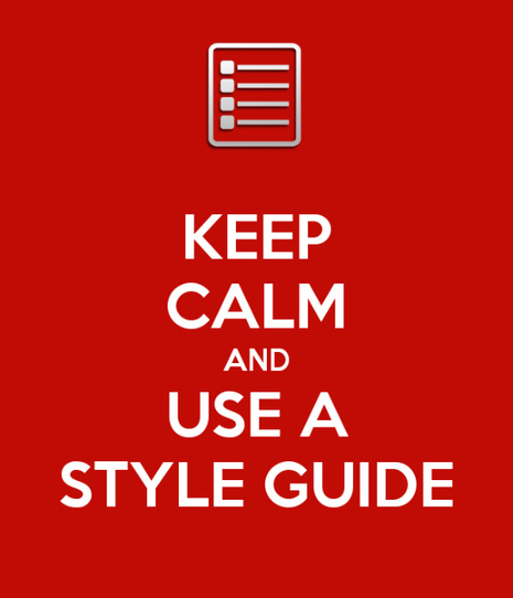 Keep calm and use a style guide | The Rambling Epicure | Scoop.it