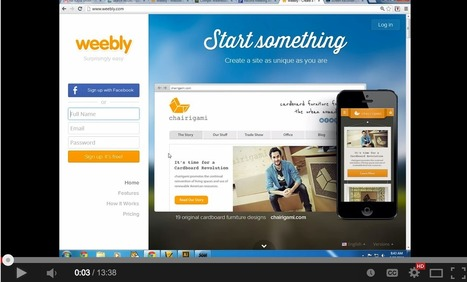 Here is how to use Weebly to create a website for your class | Edumorfosis.it | Scoop.it