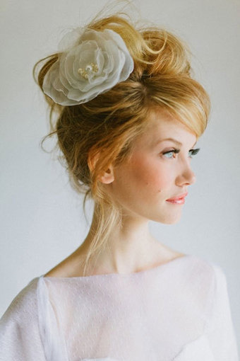 Wedding Hairstyle with side flower | Wedding Hairstyles | Scoop.it