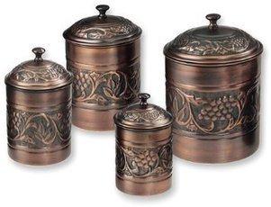 Old Dutch Antique Embossed Heritage Canister Set | Kitchen Canister Sets | Scoop.it