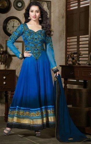 Elegant Blue Bollywood Churidar Kameez ORAR1107 - $129.60 | Designer Salwar Kameez | Party Wear Salwar Kameez | Bollywood Churidar Salwar Kameez | Scoop.it