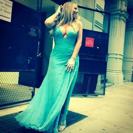 Mariah Carey Takes the Subway in a Versace Gown and Sergio Rossi Stilettos | The Web Things | Scoop.it