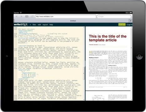 writeLaTeX: Online Collaborative LaTeX Editor with Integrated Rapid Preview   WriteLaTeX   Scoop.it
