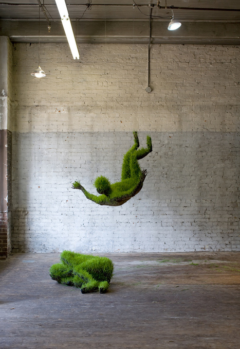 "mathilde roussel: hanging living grass sculptures | ""Life Without Art Is Stupid"" 