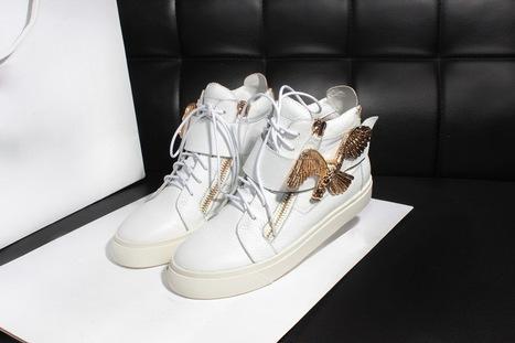 Wholesale Giuseppe Zanotti Design Metallic Eagle Sneaker White Free Shipping To UK | Giuseppe Zanotti Sneakers | Scoop.it