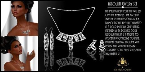 The Assoulin Jewelry Ensemble With Black Diamonds - NessMarket | 亗 Second Life Freebies Addiction & More 亗 | Scoop.it
