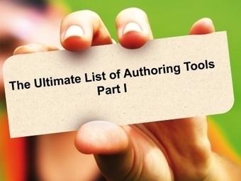 Lista de Herramientas de Autor: Parte I | Entornos Personales de Aprendizaje | Scoop.it