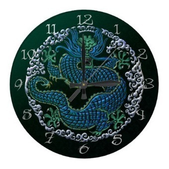 Chinese Dragon Ornament Wall Clock | Z Artwork | Scoop.it