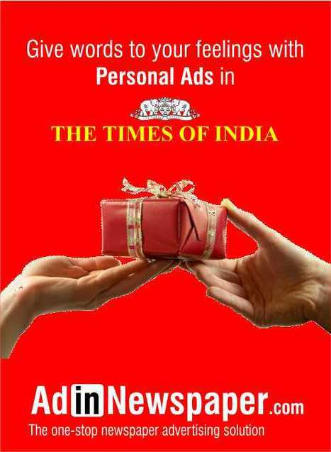 Publish Ad in Times Of India | Newspaper Ad Agency | Scoop.it