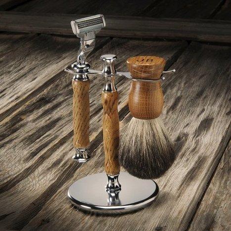Whiskey Barrel Wood Shaving Kit   Shut up and take my money!   Scoop.it