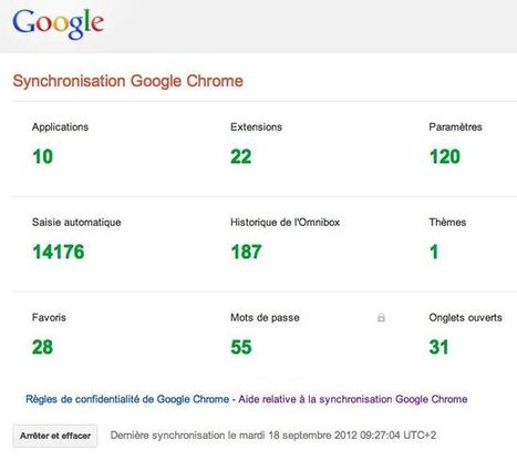 Gérer la synchronisation de Chrome dans Google Dashboard | Time to Learn | Scoop.it